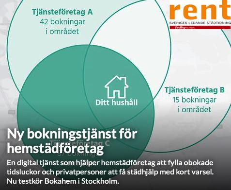 Städning i Stockholm – ny bokningstjänst