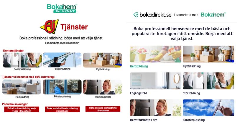Aj Produkter och Bokadirekt i samarbete m Bokahem